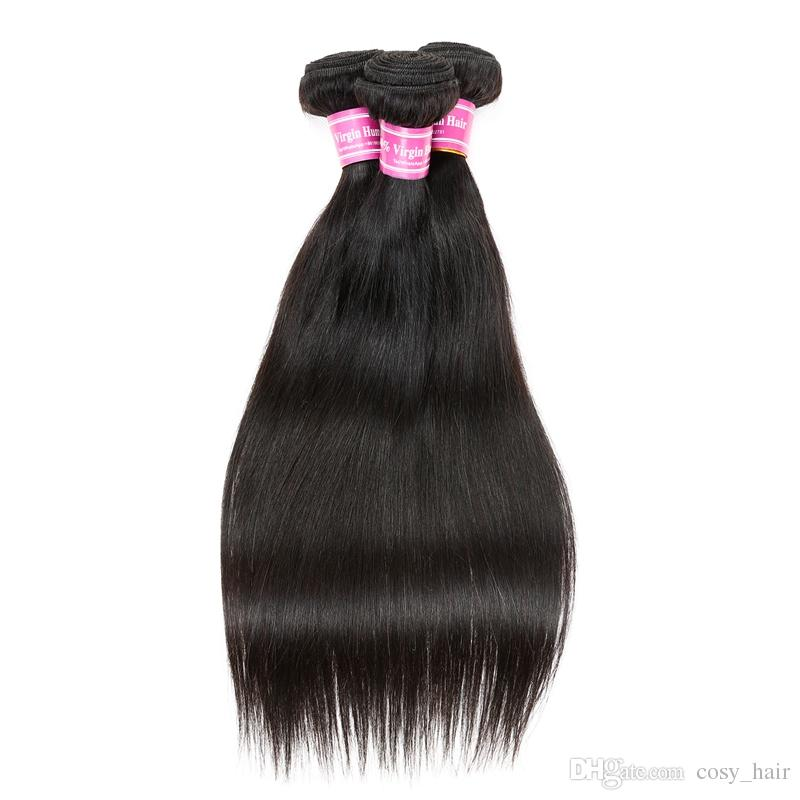 Best Selling unprocessed Indian Vrigin Human Hair Silky Straight Hair Weaves Dyeable Indian Virgin Remy Hair Extensions