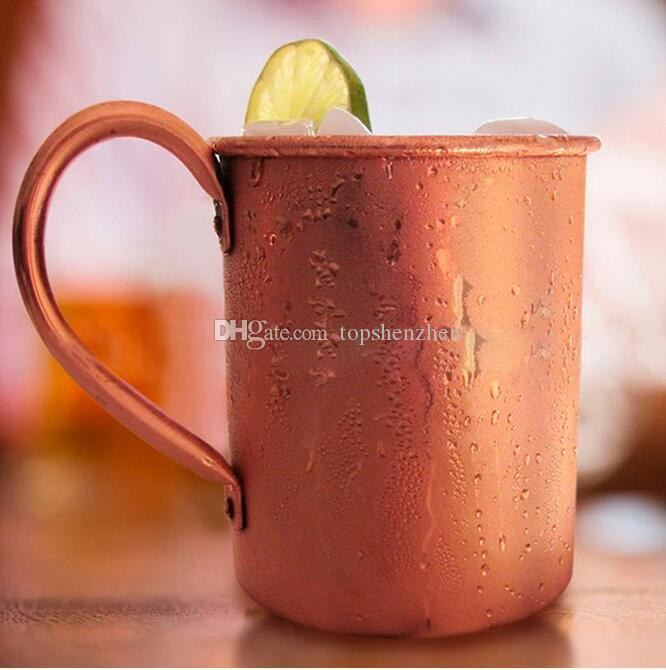 Moscow Mule Copper Mug 14OZ Solid Smooth senza rivestimento interno Cocktail Coffee Beer Milk Water