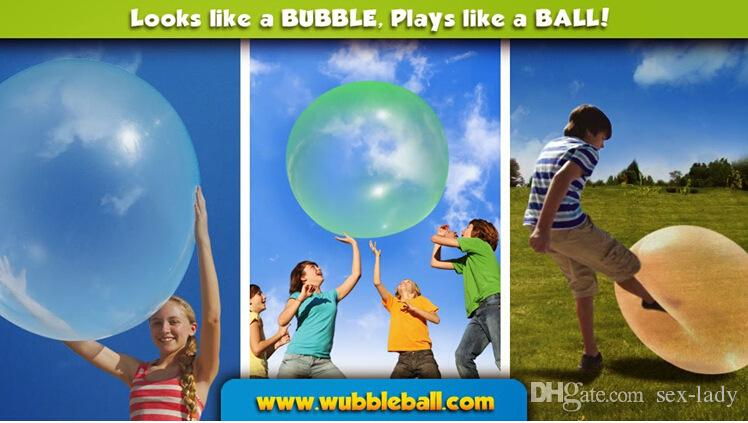 New blue and pink color TPPR Big Bubble ball with charge pump Big balloon children toy wubble bubble ball for all kids Gifts