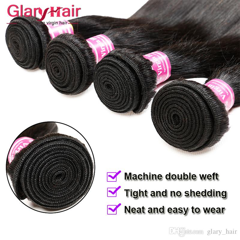 Top Quality 8a Grade Brazilian Straight Human Hair Bundles Unprocessed Cheap Remy Human Hair Extensions Double Weft Fast