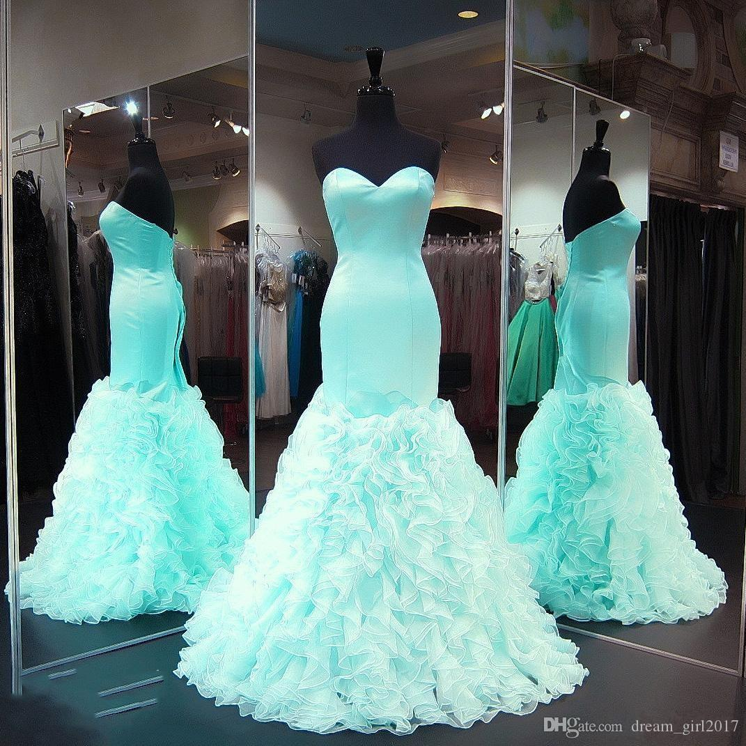 2017 Mint Green Prom Dresses Sexy Formal Party Dresses Sweetheart ...