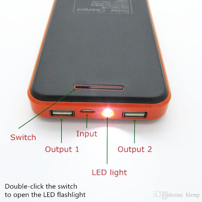 Nuovo stile impermeabile batteria solare della banca di potere 50000mah externa caricatore solare powerbank il telefono mobile Prodotti digitali di ricarica