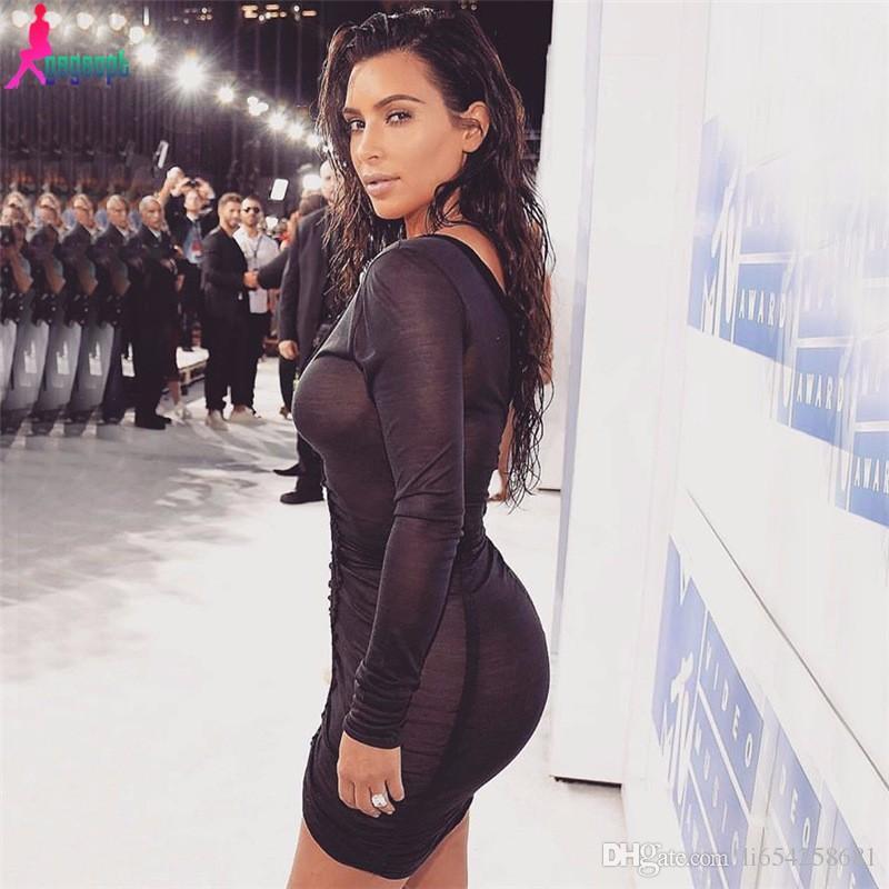 2018 kim kardashian black dress