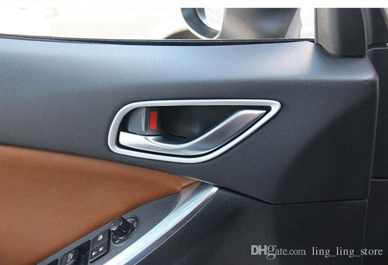 Chrome Inside Door Handle Trim Strips Frame For Mazda Cx 5