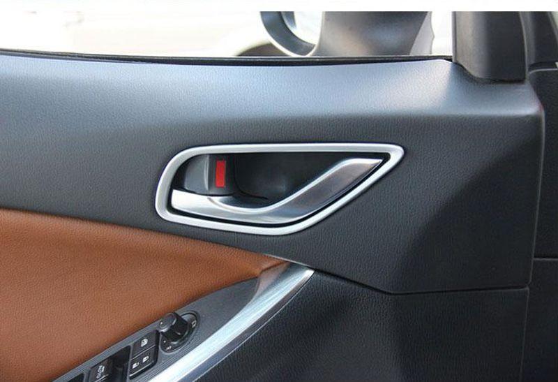 Chrome Inside Door Handle Trim Strisce Telaio MAZDA CX-5 CX5 2012 2013 Manopola porta Modanature interne 4 pz / lotto Car Styling