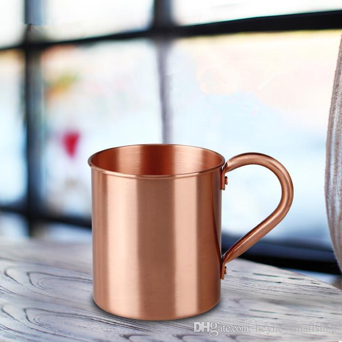 Tazza di caffè della tazza di rame pura di buona qualità 100%, tazza di caffè di rame sostenuta logo su ordinazione sulla promozione