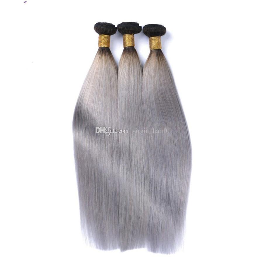 Мычка серые человеческие волосы с 360 кружева фронтальной прямой девственные волосы 1b серый ломбер волосы с предварительно сорвал 360 полный кружева фронтальной закрытия
