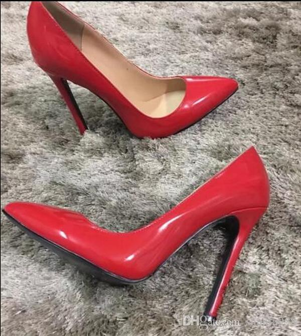 ca3ed10f7b70 Classic Brand Women Pointed Toes Red Bottom Dress Shoes