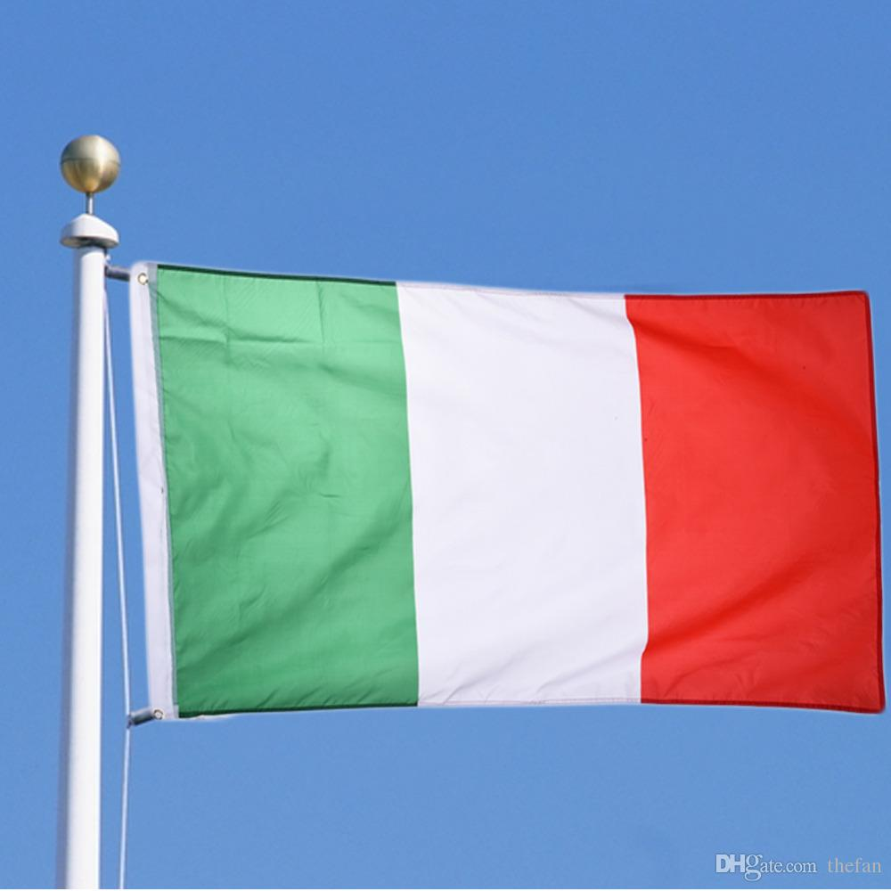 90*150cm Italy National Flag Green White Red Polyester Flags Banner Cross  Stripe Outdoor Polyester Banner Wholesale By DHL