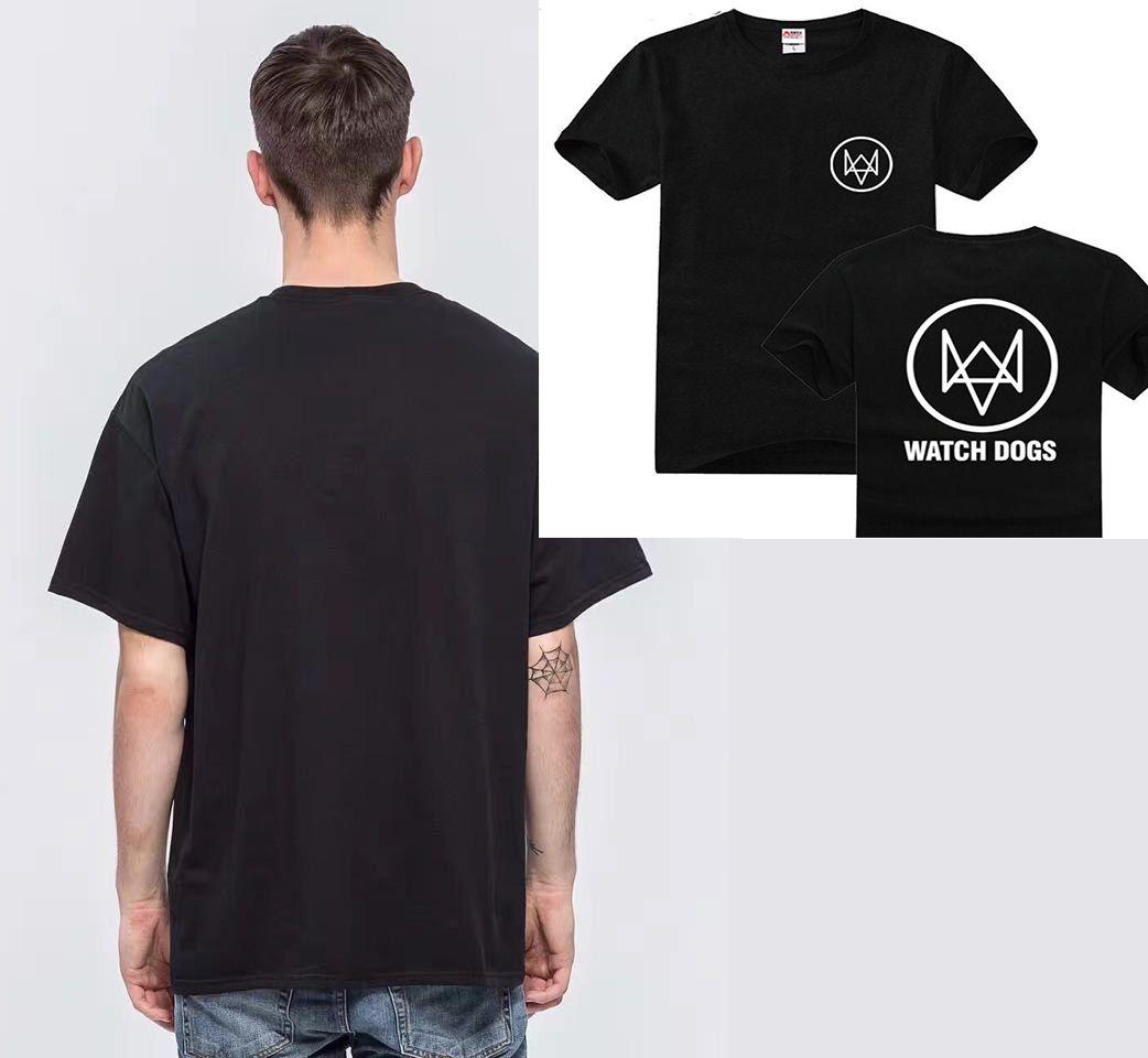 2017 Tee Watch Dog T Shirt Hip Hop Fashion Men Cotton Orologio
