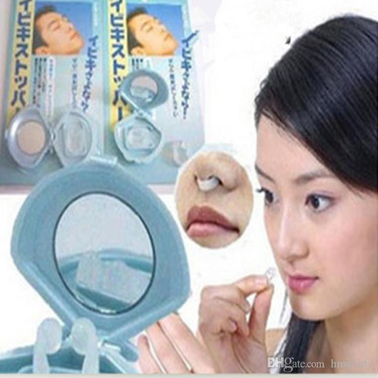 DHL free Soft Silicone Stop Snoring Nose Clip Plug Anti-Snoring Nasal Aid Device Snore Stopper for Quiet Night Sleepping