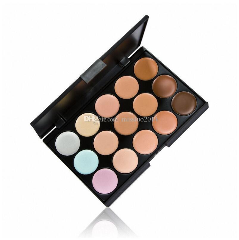 Professionelle Concealer Palette 15 Farben Gesichts Gesichtscreme Care Camouflage Make-up Basis Paletten Kosmetik mit Geschenk über DHL / FEDEX / UPS / TNT