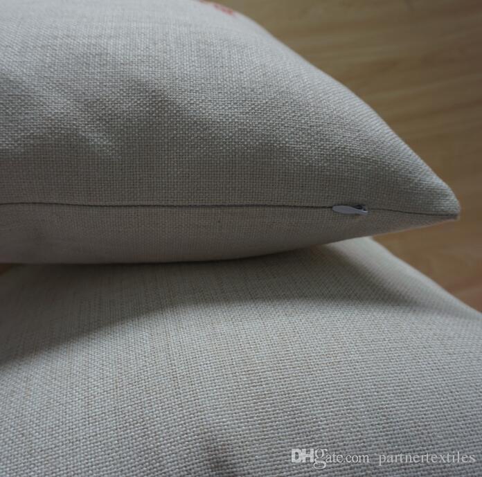 16x16 дюймов натуральная поли льняная наволочка заготовки для DIY сублимации простой мешковины наволочки вышивки заготовок