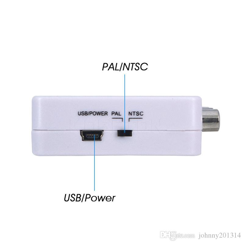 Mini HD 1080P HDMI2AV Video Converter Box HDMI to RCA AV/CVSB L/R Video Support NTSC PAL Output HDMI TO AV Adapter