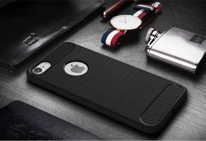 For Samsung J3 Prime Metropcs J7 2017 J7 Perx J727P J1 Mini Prime Armor Carbon fiber Brushed Skin Soft TPU Rubber Cover Case MOQ