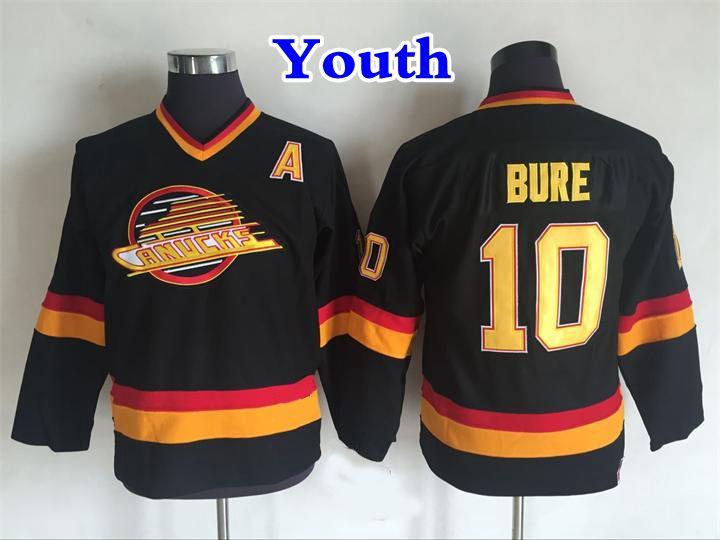 13512dac713 2019 Youth Vancouver Canucks Hockey Jersey 10 Pavel Bure Shirt Vintage CCM  Home Black Kids Pavel Bure Stitched Jerseys A Patch From Redtradesport