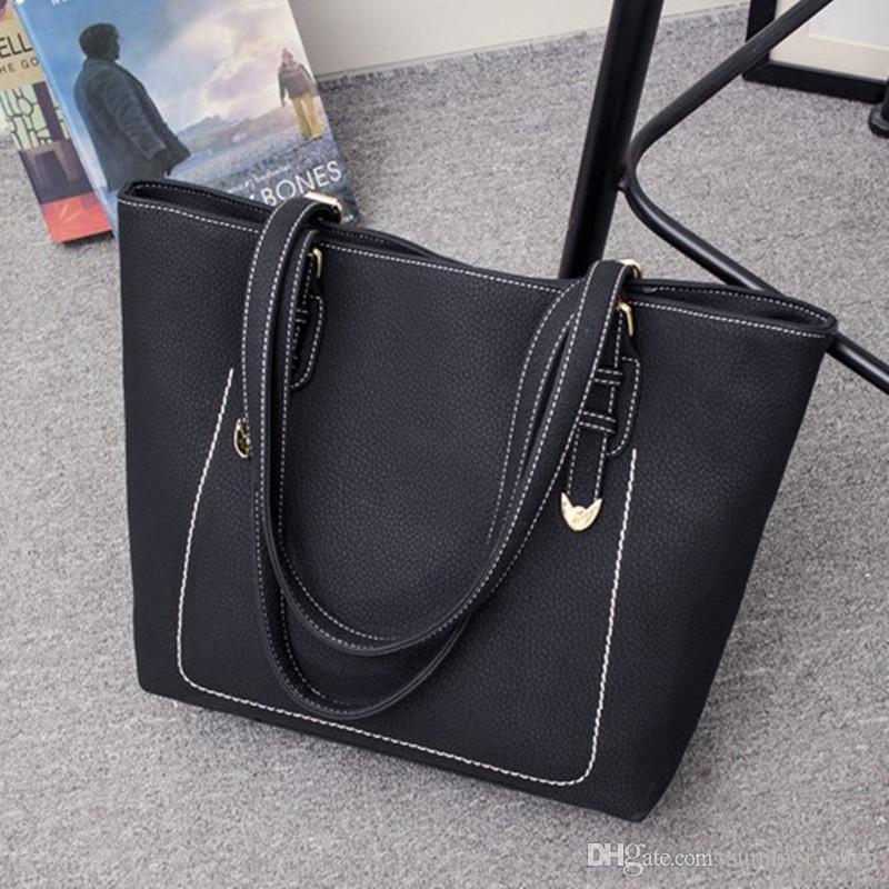 Großhandel Muttertasche Von Lackleder Mobile Handtasche Frauen Totes Tasche Buns Damen Schwarz Taschen Cross Schultertasche Pu Messenger wkXn0OP8