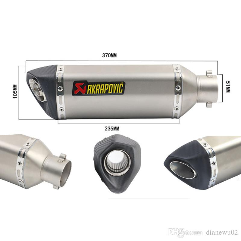38-51mm Universal Stainless Steel Motorcycle Exhaust Muffler Pipe With Removable DB Killer Slip On Dirt Street Bike
