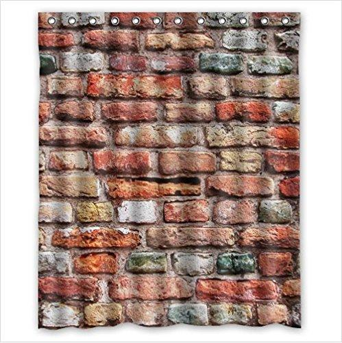 2019 Classic Brick Wall PatternStone And Rock Art Polyester Fabric Custom Home Decor Shower Curtain 60 X 72 From Littleman913 3417