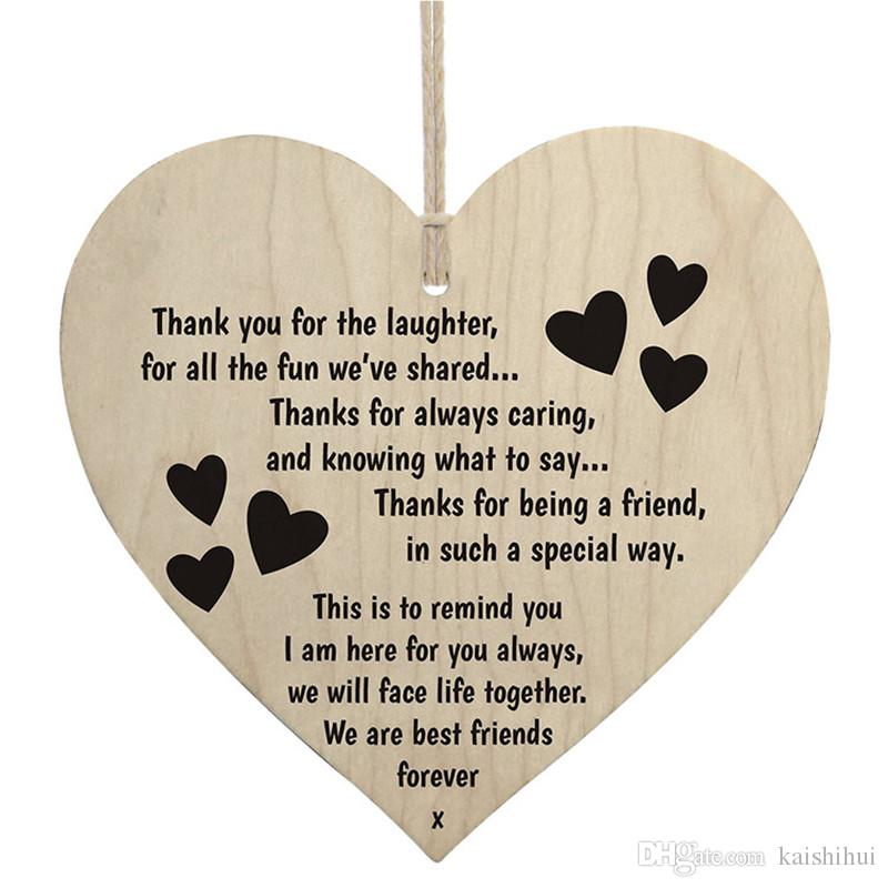 Best Friend Quotes In Chinese: Wood Sign Plaque Thank You For The Laughter, For All The