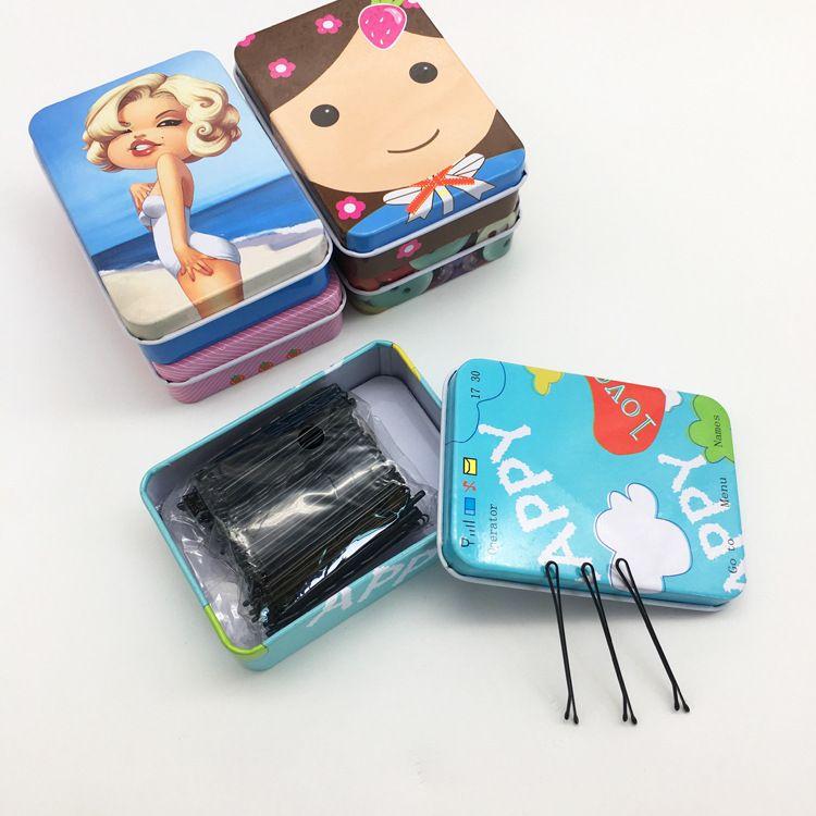 Émail émaillé de fil d'acier des femmes, noir et noir, un clip de clip de cheveux pince à cheveux pince à cheveux