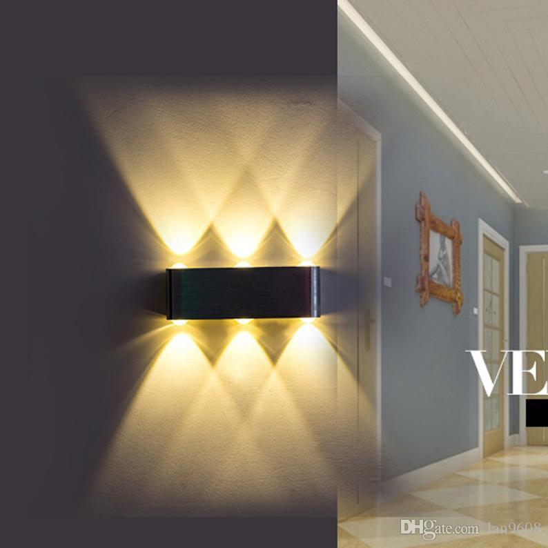 Led 머리맡의 벽 램프 실내 침실 크리 에이 티브 호텔 통로 KTV 거실 위아래 빛나는 멀티 컬러 선택
