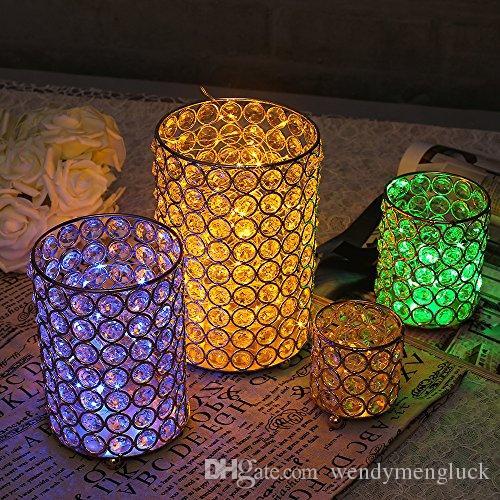 Vincigant Crystal Cylinder Vases Candle Holders For Home Wedding