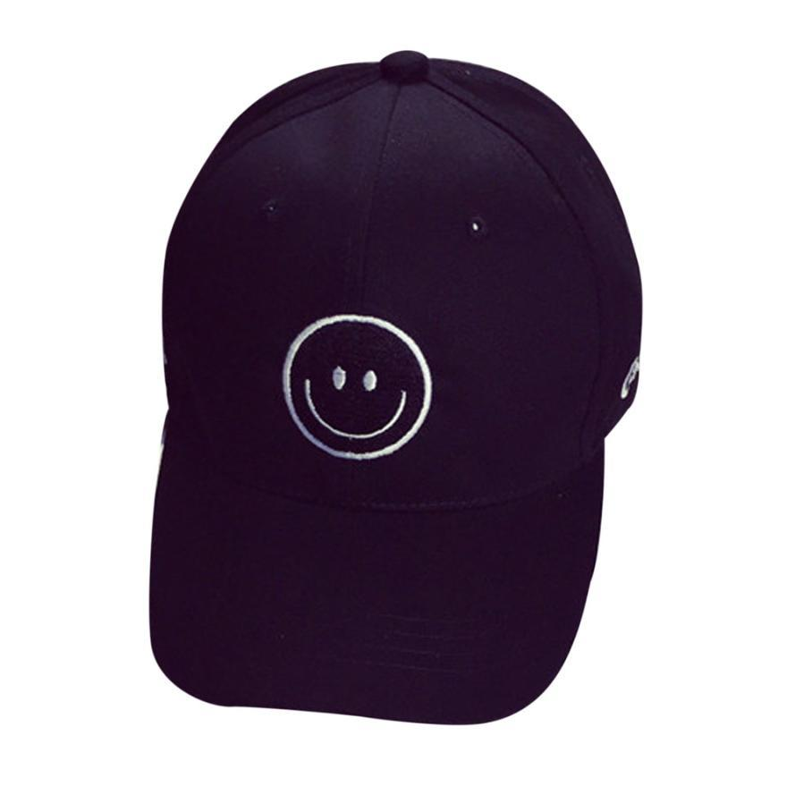 f32b74466c209 Wholesale- Children Summer Baseball Caps Letter Smile Printing Kids ...