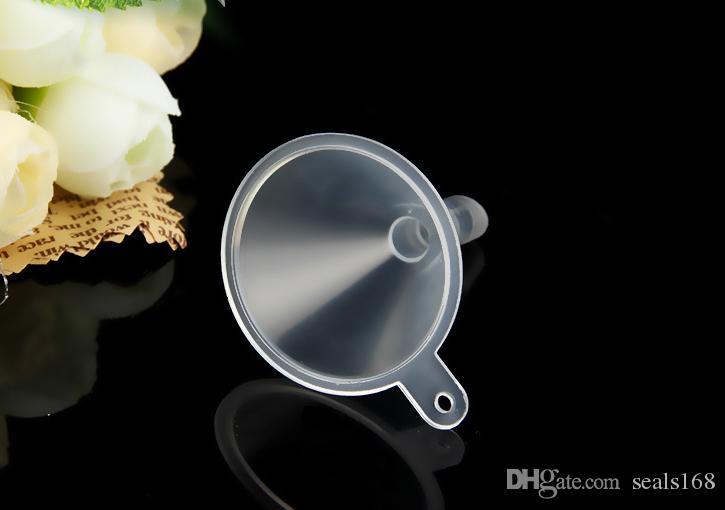 Transparente Mini Plástico Pequeños Embudos Perfume Líquido Esencial Relleno de aceite Botella Vacía Embalaje Barra de cocina Herramienta de comedor DHL Nave PX-F01