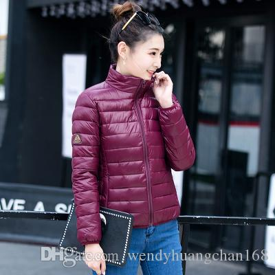2017 Women Short Thin Down Cotton Add Jackets Thick Outewear Plus XL ... 5d2e93981f95