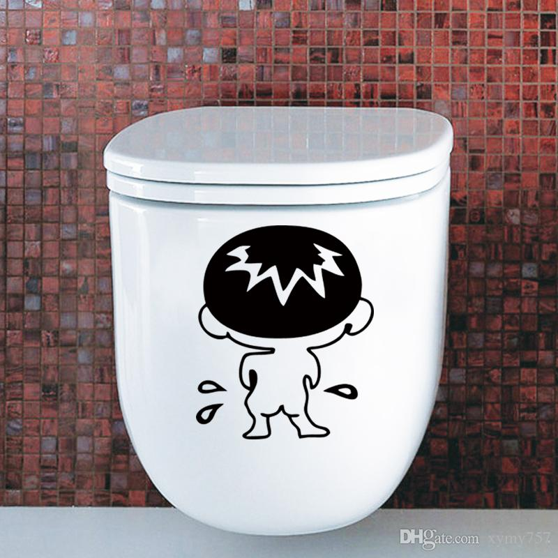 2017 Hot Sale Cute Removable Wall Stickers Decal Boy Kids Funny Bathroom Toilet Seat Decor Creative Stickers Diy