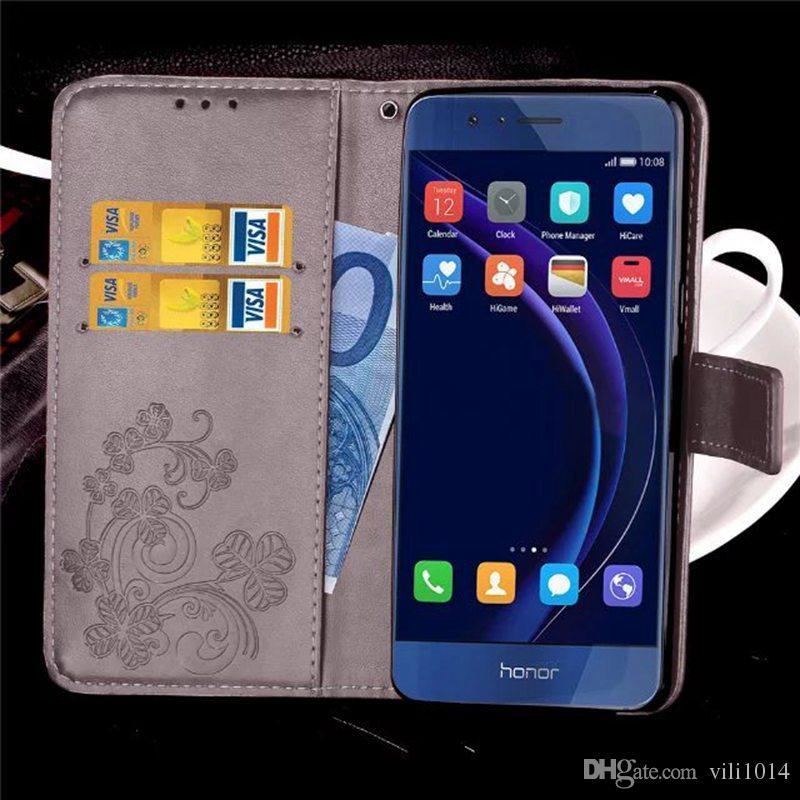 3ea1ae98221 Fundas De Movil Baratas Funda De Trébol De Cuatro Hojas Para Samsung Galaxy  S3 S4 S5 Funda De Monedero De Tapa Mini Samsung S5 I9600 Coque Cuero De La  PU ...