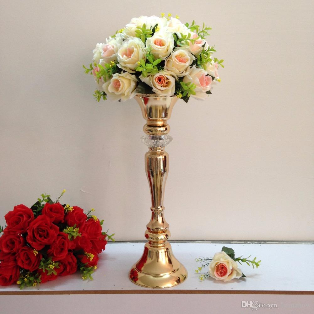 Height 48cm 189 Gold Table Flower Vases Golden Table Centerpiece