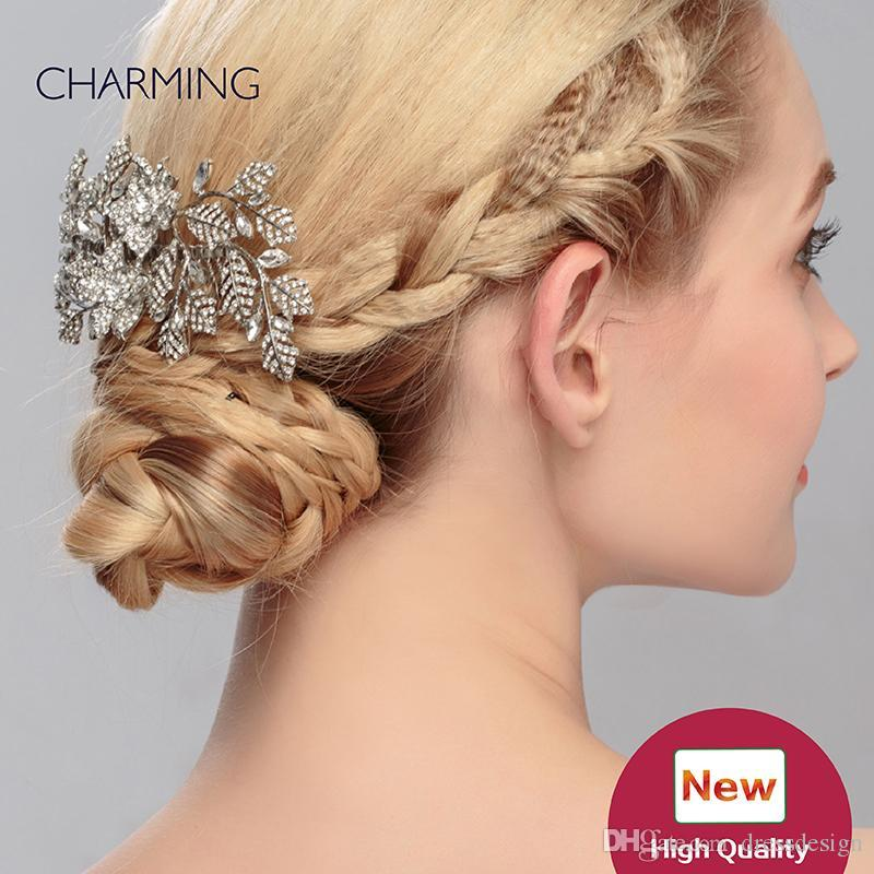 Twigs Bridal Unique Hair Accessories Tiaras Crystals Pearls Wedding Cheap Flower Vines Hairpins Kids From