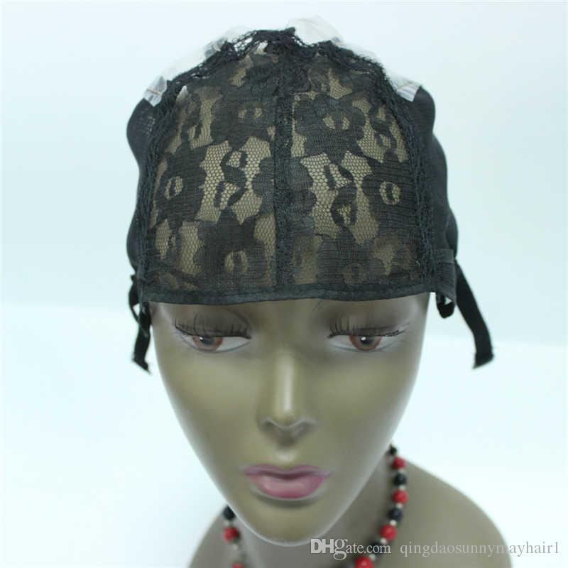 Fast Shipping Top Quality top grade machine made Wig caps for making wigs stretch lace sew in for wigs
