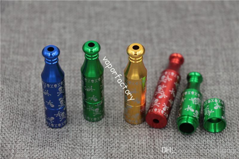 Livraison gratuite USA Allemagne snuff snorter pas cher prix 6CM fumer pipe jamaïcain reggae tabac pipes Crâne cigarette Sniffer herbe fumée tuyaux