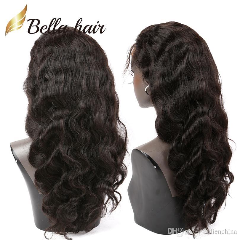 Perucas de cabelo Para As Mulheres Negras Saltitantes Ondulado Perucas de Renda Peruano Virgem Do Cabelo Humano Bella Cabelo Frete Grátis