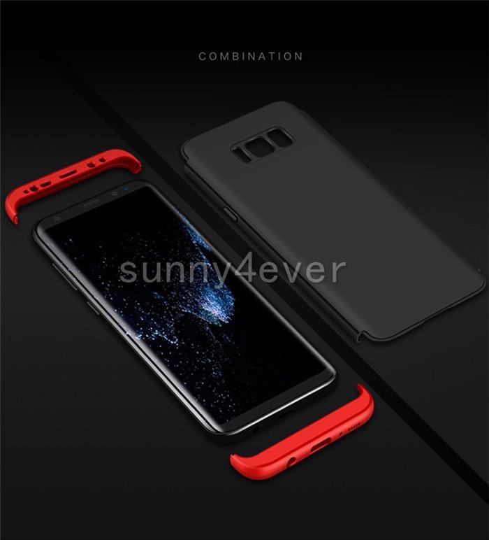 Color Blocking 360degree Full Body Cover Matte PC Case For Samsung Galaxy S8 plus S8+ Hybrid plastic case new