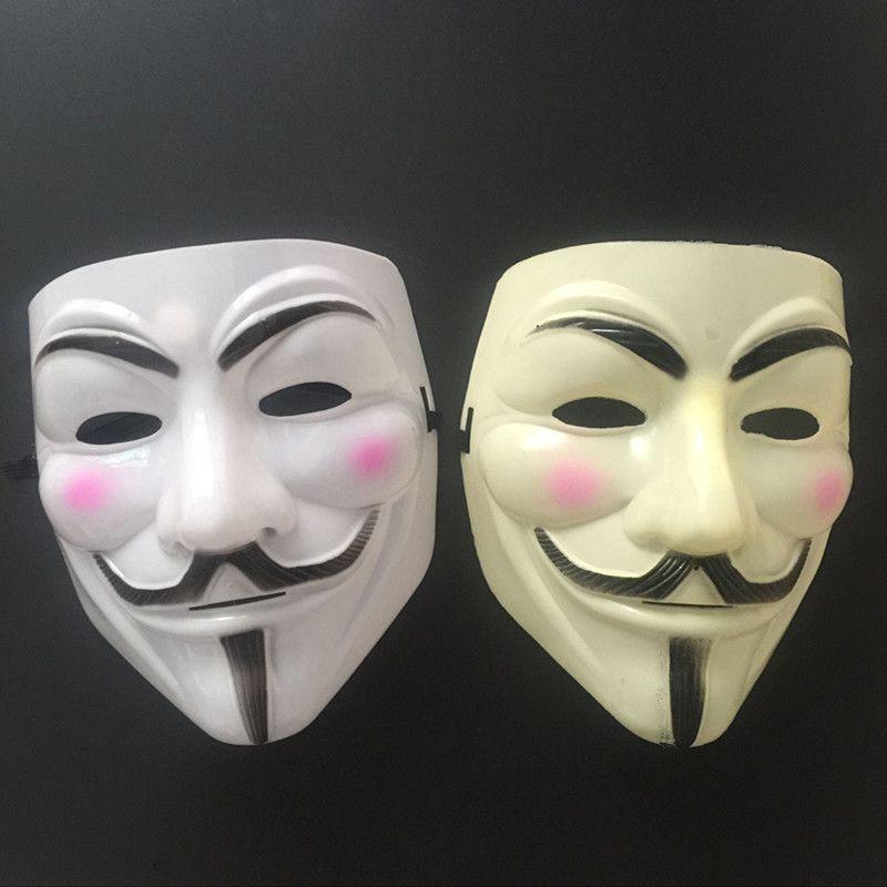 new V mask Vendetta white yellow Mask Anonymous Guy Fawkes Fancy Adult Costume Halloween Masks Masquerade V Masks For Halloween