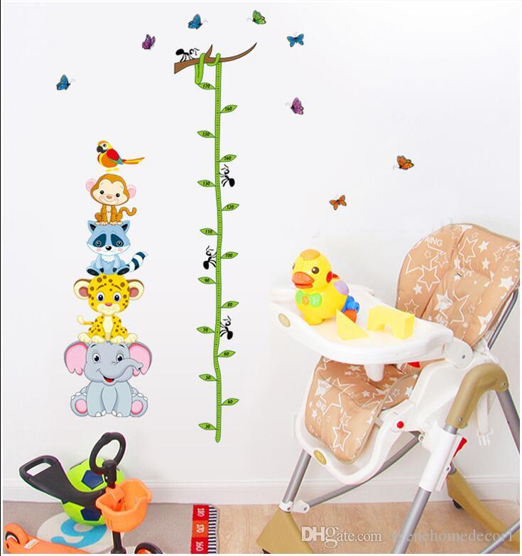 8 Designs Kids Height Measurement Wall Sticker Growth Chart