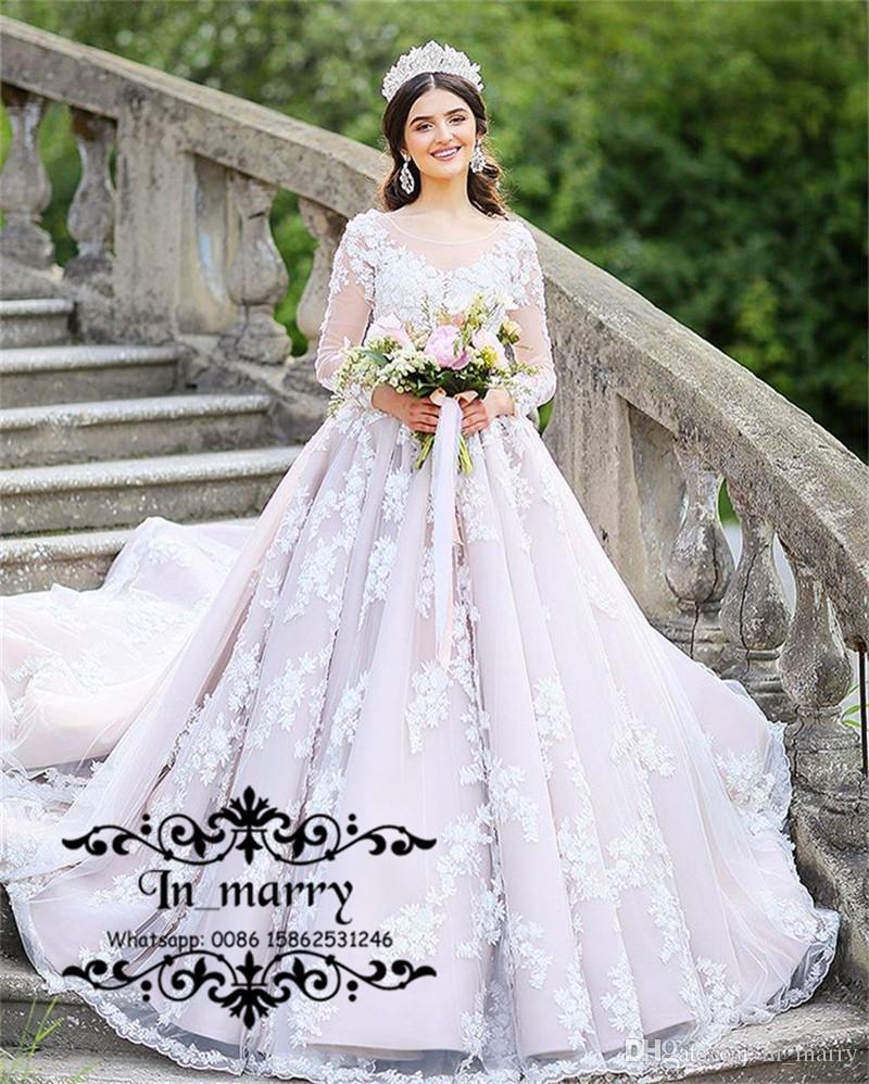 Großhandel Prinzessin Islamic Arabic A Line Brautkleider 2018 ...
