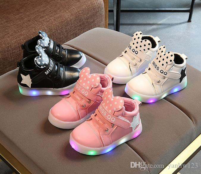 LED Kinderschuhe leuchtende Baby Jungen-Mädchen Non-slip Sportschuhe Turnschuhe