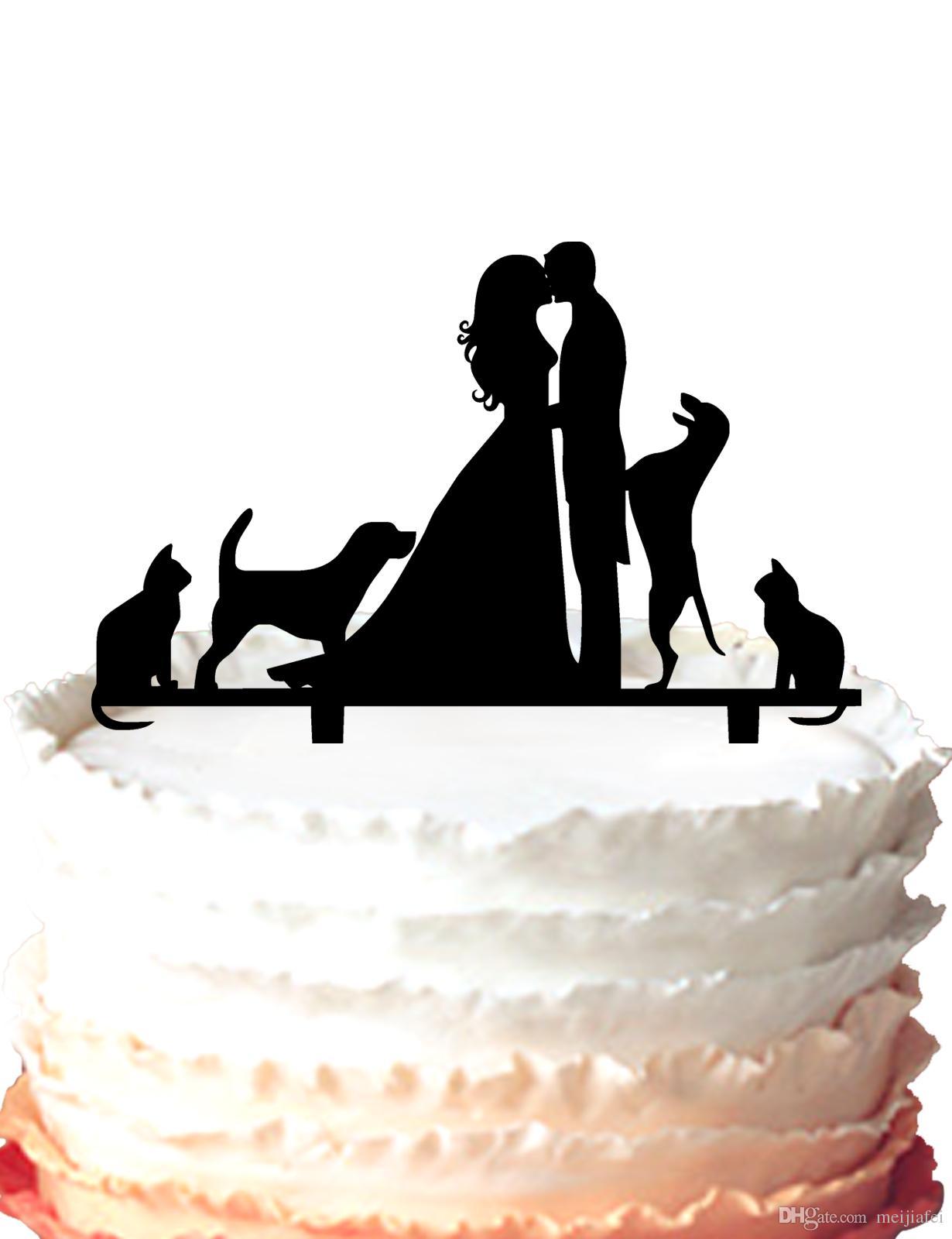 2018 Wedding Cake Topper Kissing Bride And Groom Couple Pet Lovers ...