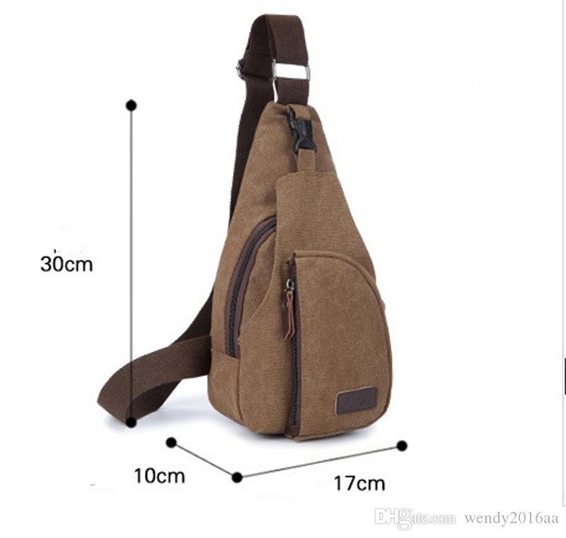 Men Small Chest Canvas Bags Vintage Man Messenger Bags For Waist Chest Casual Outdoor Hiking Sport Casual Male Retro Shoulder Bag