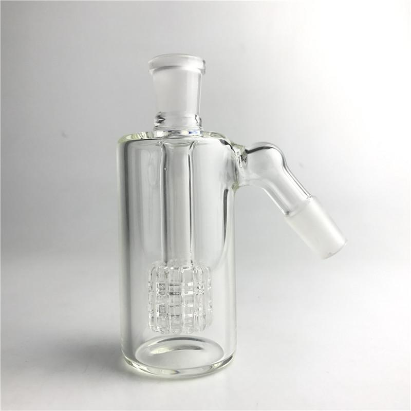 Стеклянная зола-улавливатель 14 мм 18 мм 4,5-дюймовый мини-стеклянный бонг-зол-улавливатель Толстый Pyrex Clear Bubbler Ashcatcher 45 90 градусов