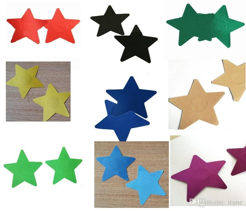 DNC-012 Large 8.2cm star shape Safety Breast Nipple protection nipples covers sticker tit pad Stickers