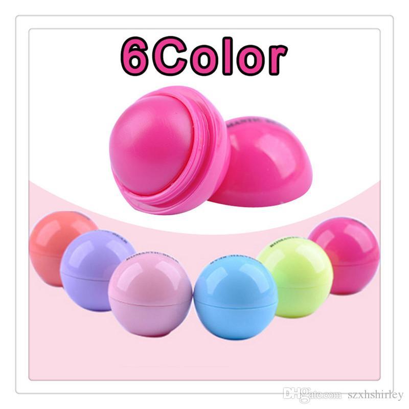 Makeup 3D Lip Balm Round Ball Lip Kit Makeup Lipstick Moisturizing Natural Plant Sphere Fruit Lips Pomade Gloss Embellish Lip Care Tools