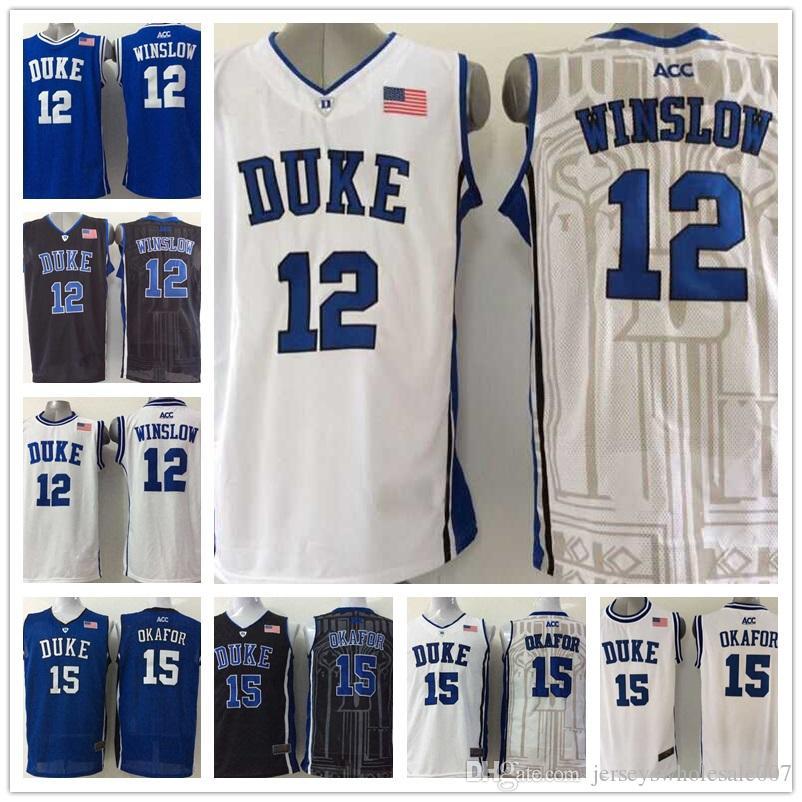 80671446e33 ... best new mens 12 justise winslow 15 jahlil okafor duke blue devils  college basketball jerseys black