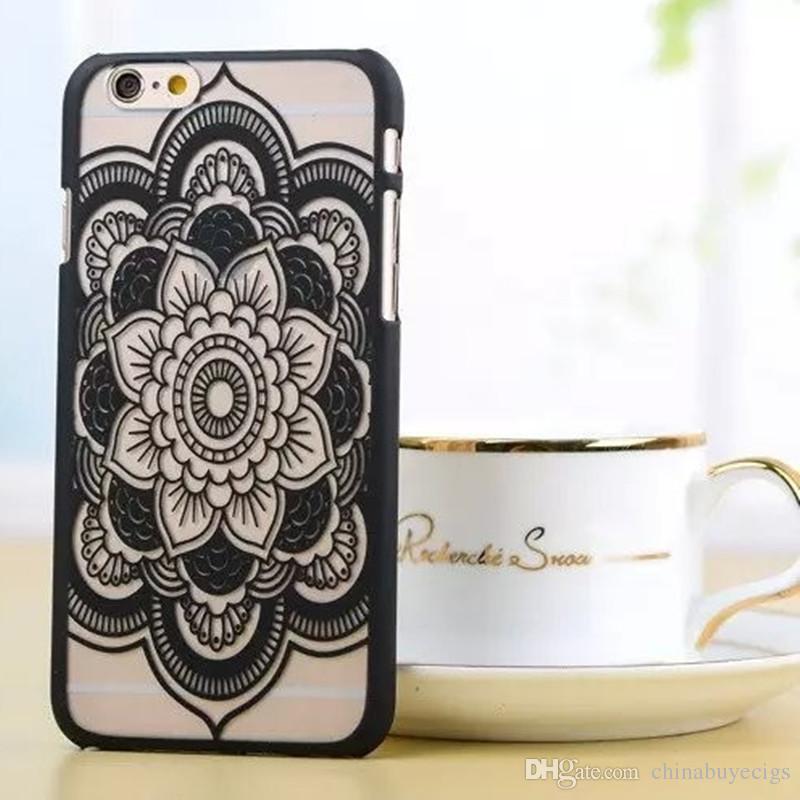 cassa del telefono vintage Fiore modello caso della copertura Beautiful Floral Paisley del hennè Mandala Palazzo del fiore TPU iPhone 6 iphone 7 7plus DHL