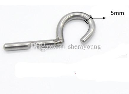 pene perforación correa en anillo de 3 mm PA gancho juguetes dispositivo de castidad jaula de punción adultos del sexo masculino para hombres XCXA213 acero inoxidable